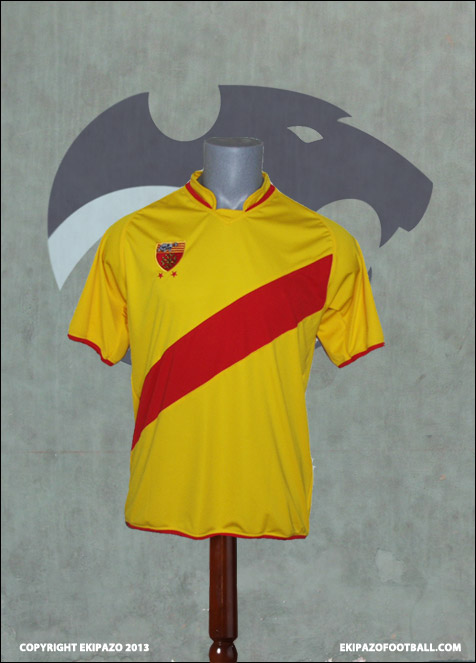 Maillot Foot Jaune Rouge River