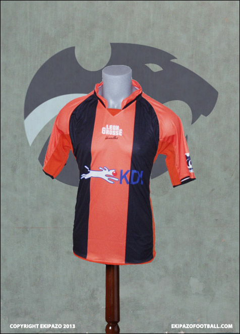 Maillot Foot Alianza Orange Noir