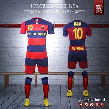 creation de maillot de foot pour ISCA