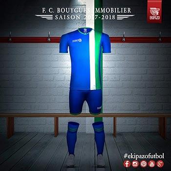 maillot de football personnalisé pour FC Bouygues Immobilier