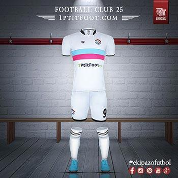 maillot de foot créé pour Football Club 25