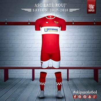 maillots de foot crées pour l'ASC Rouj